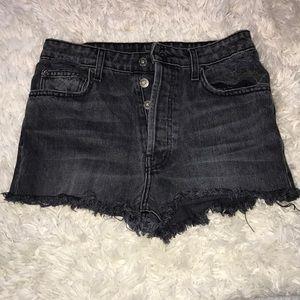 LF carmar high waisted shorts gray/black NWT 27